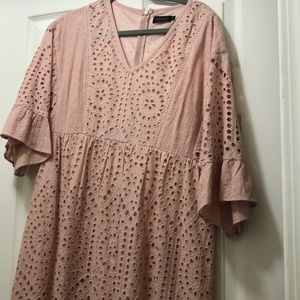 Blush pink midi dress NWOT